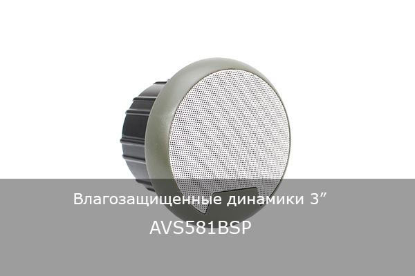 """ВЛАГОЗАЩИЩЕННЫЕ ДИНАМИКИ 3"""" AVS581BSP"""