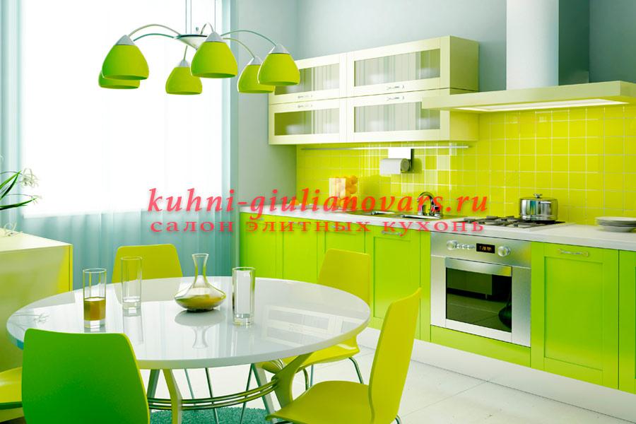 Зеленые кухни премиум класса в итальянском стиле